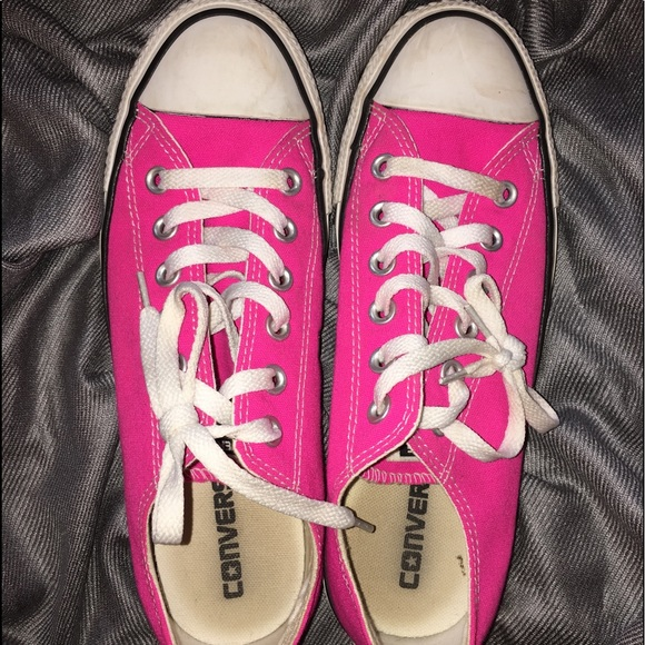 1ca07fcea53cfe Converse Shoes - Hot pink size 8 women s (6 men s) low top converse